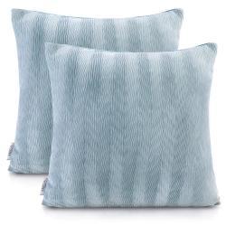 Sada 2 světle modrých potahů na polštáře AmeliaHome Nancy Blue, 45 x 45 cm