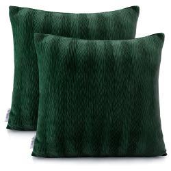 Sada 2 tmavě zelených potahů na polštáře AmeliaHome Nancy Green, 45 x 45 cm