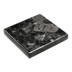 Černý žulový podnos RGE Black Crystal, 15 x 15 cm