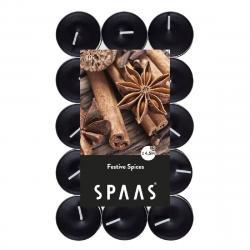 SPAAS Čajové svíčky vonné Mix koření, 30 ks