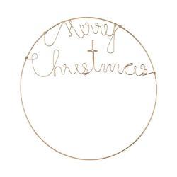 MERRY CHRISTMAS Dekorační kruh 50 cm