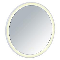 Bílé zrcadlo s LED osvícením Wenko Isola