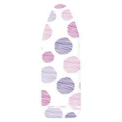 Bílo-fialový potah na žehlící prkno Wenko Dots S