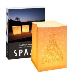 SPAAS Sada 4 ks Ohnivzdorných sáčků Christmas s čajovou svíčkou Maxi