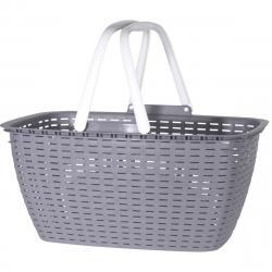 Nákupní košík Ratan, šedá