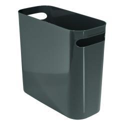 Tmavě šedý odpadkový koš iDesign Una, 8,8l
