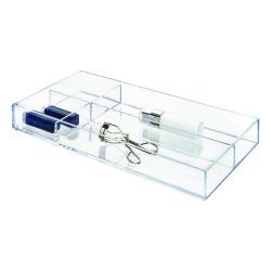 Průhledný stohovatelný organizér s přihrádkami iDesign Clarity, 40,6x20,3cm