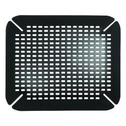 Černá podložka do dřezu iDesign, 35x41cm
