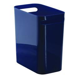 Tmavě modrý odpadkový koš iDesign Una, 13,9l