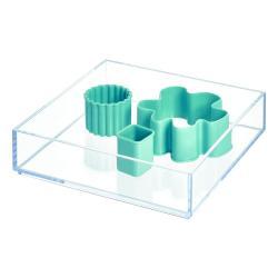 Průhledný stohovatelný organizér iDesign Clarity, 20x20cm