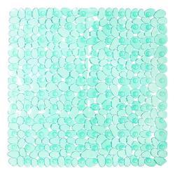 Zelená podložka do sprchy iDesign Pebblz, 56x56cm
