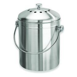 Kompostovací nádoba ve stříbrné barvě iDesign, 13,8l