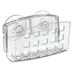 Průhledný kovový držák s přísavkami iDesign, 5x14cm