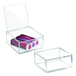 Průhledný stohovatelný box s víkem iDesign Clarity, 10x10cm