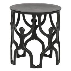 Černý odkládací stolek WOOOD Liam,ø43cm
