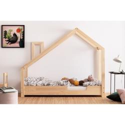 Domečková postel z borovicového dřeva Adeko Luna Carl,100x200cm
