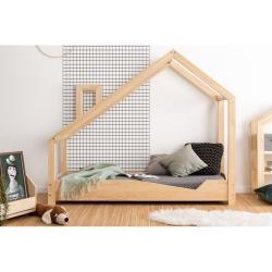 Domečková postel z borovicového dřeva Adeko Luna Adra,80x190cm