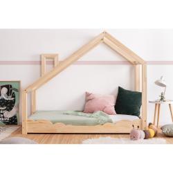 Domečková postel z borovicového dřeva Adeko Luna Drom,70x170cm