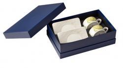 Villeroy & Boch Quinsai Garden šálky na čaj s podšálky v dárkovém balení, sada 4 ks