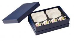Villeroy & Boch Quinsai Garden šálky na espresso s podšálky v dárkovém balení, sada 8 ks