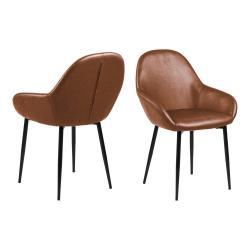 Koňakově hnědá jídelní židle Actona Candis