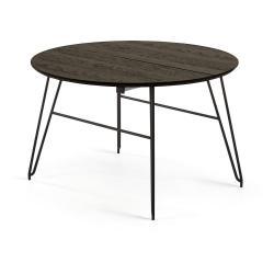 Černý rozkládací jídelní stůl La Forma Norfort, 120 x 120 cm