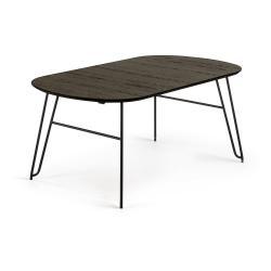 Černý rozkládací jídelní stůl La Forma Norfort, 100 x 170 cm