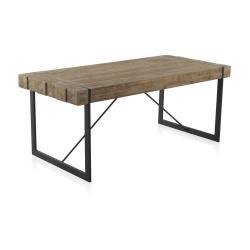 Jídelní stůl s kovovými nohami Geese Robust, 200 x 90 cm