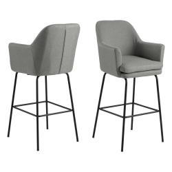 Šedá barová židle Actona Chisa