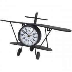 Stolní kovové hodiny Aeroplane, 37,5 cm