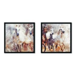 Sada 2 zarámovaných plakátů Insigne Christopher,50x50cm