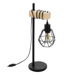 EGLO Townshend 5 stolní lampa s klecovým stínidlem