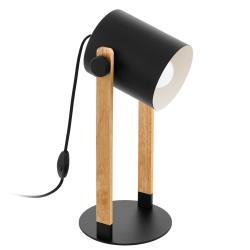 EGLO Hornwood stolní lampa s dřevěnými detaily