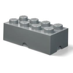 Dětský tmavě šedý úložný box LEGO® Rectangle