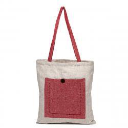 Trade Concept Nákupní taška Heda červená / béžová, 40 x 45 cm