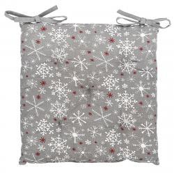 Forbyt Vánoční sedák Vločka šedá, 40 x 40 cm