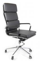 ADK TRADE Kancelářská židle ADK Soft, černá eko kůže