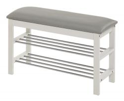 Halmar ST11 shoe rack, color: white