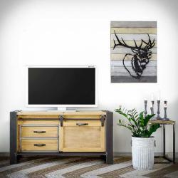 Rustykalneuchwyty Komoda / Tv stolek Factory Kov, Masivní dřevo
