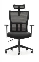 ADK TRADE Černá kancelářská židle ADK Mercury Plus, síťovina/tkanina