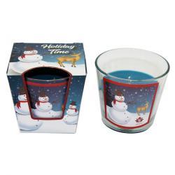 Arome Vonná svíčka Snowman Vanilla, 120 g
