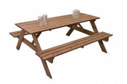 VÝPRODEJ Masivní dřevěný pivní set z borovice 200 cm síla 30 mm (mořený)