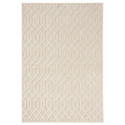Krémový koberec z viskózy Mint Rugs Caine, 120 x 170 cm