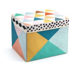 Pestrobarevná krabička na hračky Djeco