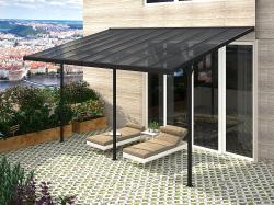 Pergola 557 x 305 cm (černá+šedý polykarbonát)