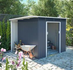 Zahradní domek plocha 257 x 142 cm (šedá)