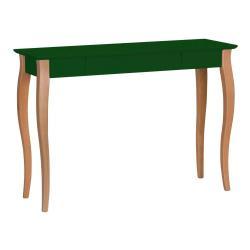 Tmavě zelený psací stůl Ragaba Lillo, délka105cm