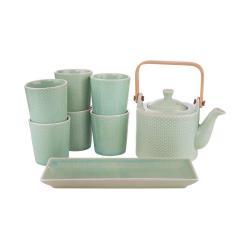 HANAMI Sada nádobí na čaj set 8 ks - mátová