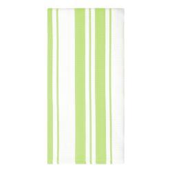 MÜkitchen Kuchyňská utěrka/ručník pistachio pruhy MÜincotton® svěží jarní odstín
