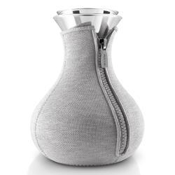 Eva Solo Čajovar Tea maker 1,0 l světle šedý s potahem v kombinaci neopren a vlna